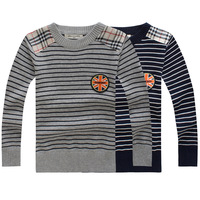 Free Shipping 2014 Children's Clothing  Boys Autumn Children Patchwork Sweater