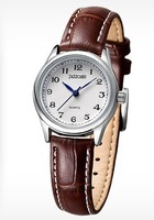Female fashion watches, luxury Rome style leather strap watch, neutral strap watch wholesale factory outlets