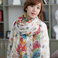 Ultralarge lengthen mantillas yarn silk scarf female autumn and winter women's spring and summer scarf