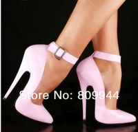 13CM cm pink patent leather high heels sexy fine with small pointed high heel shoes sexy big yards