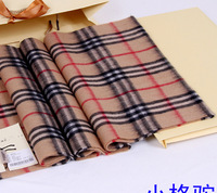 free shipping famous style 2013 brand new big size small plaid large plaid check scarf man and woman 100% cashmere scarf colors