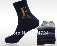 30pcs/lot wholesale Men's Cotton mid-calf length sock Hot sale Cheap Male's  Casual Letter Sock  Freeshipping dropshipping