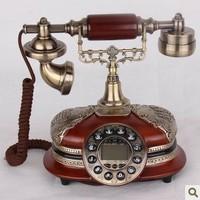 Fashion phone antique old fashioned imitation wood telephone vintage telephone