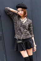 Fashion women's  long-sleeve jincong sweater short board fashion shirt