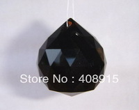 Free shipping, 40mm Hanging Crystal Ball, Black color Crystal Drop, Ornament for Wedding/Christmas, Chandelier Parts, 10pcs/ lot