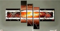 Handpainted Group Triptych Wall Paintings Home Decorative 5 Panels Modern Abstract Art Paintings