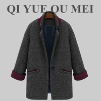 Fashion women's 2013 winter long-sleeve short jacket suit collar single button sheep woolen outerwear 8179 free shipping
