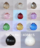 Free shipping, Grade A High Quality Hanging Crystal Ball Drop, 40mm Crystal Ball Pendant, Christmas ornament,11 colors,16pcs/lot