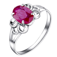 Flammable volcano natural ruby ring female models 925 sterling silver natural colored   rings Pretty in Pink