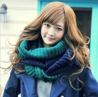 New hot!   two-tone Unisex Winter knitting Wool Collar Neck Warmer Scarf Shawl Freeshipping
