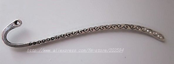 Free Shipping 100pcs Tibetan Silver Bookmark with Loop 86x13mm(China (Mainland))