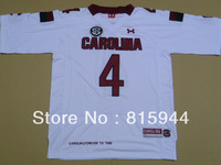 College South Carolina Gamecocks #4 Shaq Roland white ncaa football jerseys mix order free shipping
