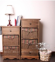 Rustic furniture cabinet wood storage cabinet brief bedsprings 22b