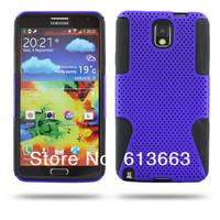 2 in 1 Hybrid Mesh Hard plastic & Silicone Gel Back Case For Samsung Galaxy Note 3 N9000 100PCS