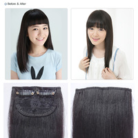 2 card real hair thickening hair piece real hair extension piece really hair piece wig piece
