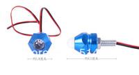 2x Blue Motorcycle Bike Bullet Light Decorative 7Color Strobe Flash Lamp Blub