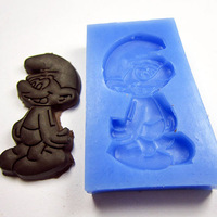 Free shipping soap chocolate cake silicone Candy cookie mould blue elves boy