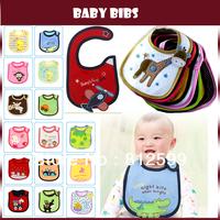 Free Shipping! Three-layer Cute Cartoon Waterproof Baby Bibs Soft Infant Saliva Towels Toddler Neckwear Keep Boy Girl Clean