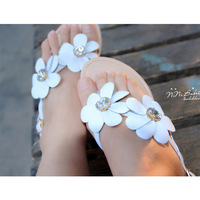 2013 cowhide rhinestone flower flip-flop sandals wedges sweet genuine leather low-heeled comfortable flip female drag