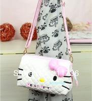 Hot Cute Hello Kitty Shoulder Bag Message Bag Purse Shopping Bag Bow -M