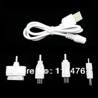 100set 4 in 1 OEM Multi USB Power bank Micro Mini 30pin Adapter Charger cables for iPhone4 4s sumsung Nokia cellphones