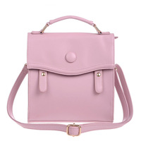 Hot sell  style lady women's solid color pu leather fashion handbag  casual vertical street color block kc4017, free shipping