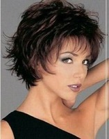 Stylish Short curly human made hair healthy wig wigs color Fashion Free shipping