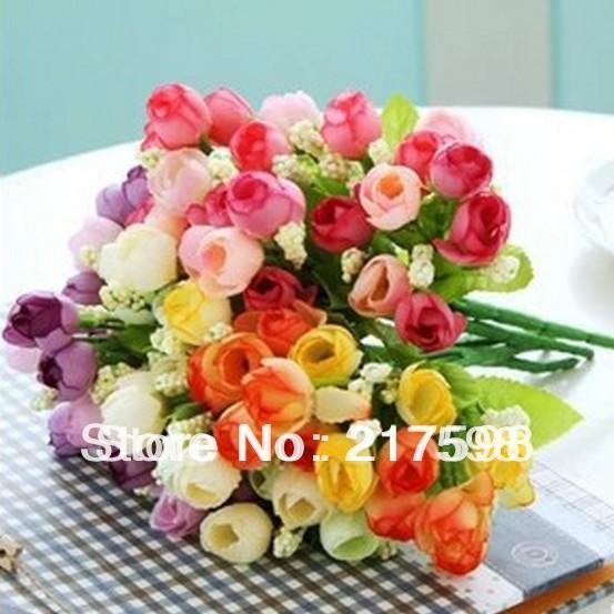 20pcs/lot,artificial flower coffee table decoration flower silk flower qq small tea rose Christmas Wedding high quality(China (Mainland))