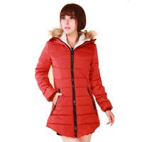 free shipping outerwear female winter medium-long plus size cotton-padded jacket cotton-padded jacket women's Clothing Snow Wear