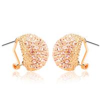 Free shipping Female full rhinestone vintage earrings fashion stud earring anti-allergic ear buckle no pierced