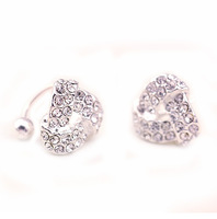 Accessories full rhinestone trigonometric no pierced earrings stud earring female earrings 0134