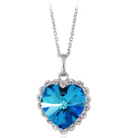Free shipping Fashion accessories crystal necklace female short design chain pendant classic gift