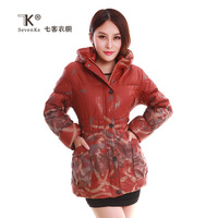 free shipping female winter medium-long cotton-padded jacket thermal outerwear thickening plus size Down