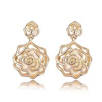 Free shipping Suki stud earring female fashion vintage crystal rose earring cutout zircon accessories