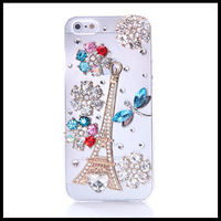 Bright and colorful  dragonfly  case for iphone 5 5s  transparent  flower cases for  iphone 4 4s  moblie phone free ship