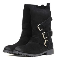 CooLcept Free shipping half ankle short natrual real genuine leather wedge boots women snow boot shoes R3139 EUR size 34-39