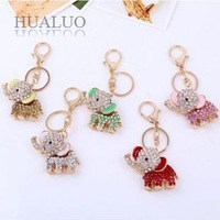 Min.order is $10 (mix order) Free Shipping 2013 New Arrived Fashion Inlay Full Rhinestone Elephant High Quality Keychain K11