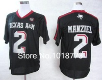 cheap 2014 new authentic college football jerseys Texas A&M Aggies Johnny Manziel 2 red black white colors authentic Jerseys