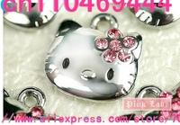 Free shipping 50 pcs Hello kitty  metal Cartoon  DIY mobile phone charms pendants