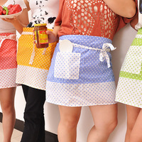 Fashion dot candy color half-length aprons belt 70g