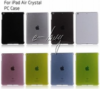 Wholesale Crystal Transparent  Case For ipad 5 Air Clear Case Cover  20pcs/lot DHL Free Shipping