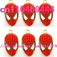 Spider-man metal Cartoon  DIY mobile phone charms pendants Free shipping 50 pcs