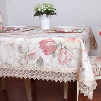 Dining table cloth fabric fashion rustic tablecloth table cloth rectangle square table cloth table runner