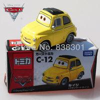 Free Shipping 1/55 Scale Pixar Cars 2 Race Team Toys Luigi Car Diecast Metal Pixar Car Toy For Kids New In Box