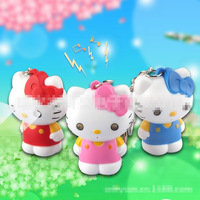 ClassicToys nice Hello kitty flashlight keychain with sound and light Mobile Phone Accessories Freeshipping as a gift