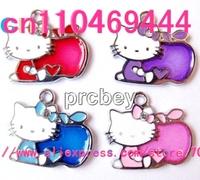 Hello Kitty Apple Cartoon  DIY  pendants  Jewelry accessories Free shipping 50 pcs
