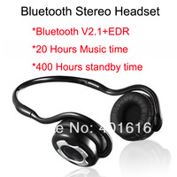 Sports Neckband Bluetooth Stereo Headset Headphone With Mic, V2.1+EDR Noise cancellation for Handsfree call, 20 Hours Music Time