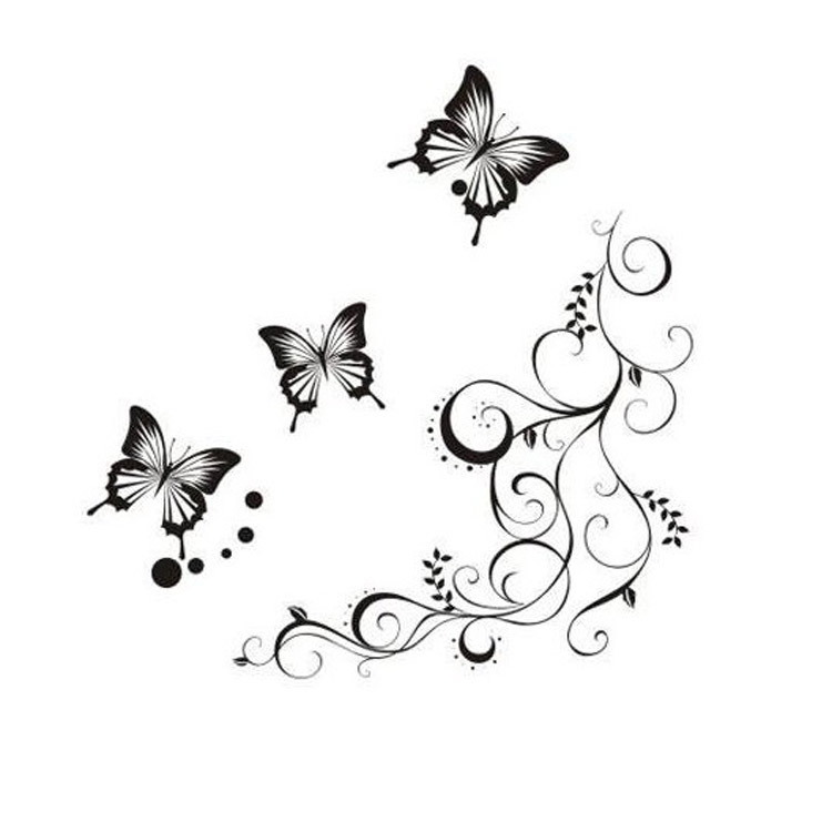 Рисунок для декора бабочки
