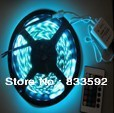Christmas 5m 300 SMD 5050 RGB waterproof color changing LED flexible strips light with leds remote controller free shipping