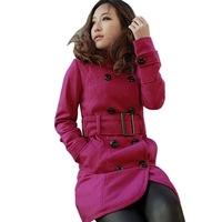 Autumn And Winter Overcoat Long-Sleeve Trench Medium-Long Double Breasted Woolen Outerwear